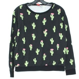 Divided Womens Sweatshirt Cactus Black Small D2